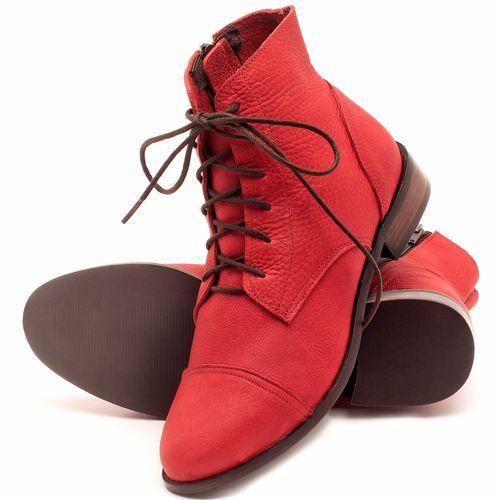 Laranja_Lima_Shoes_Sapatos_Femininos_Bota_Cano_Curto_Salto_de_2_cm_em_Couro_Vermelho_-_Codigo_-_9440_2