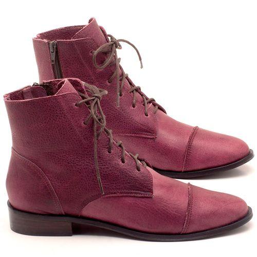 Laranja_Lima_Shoes_Sapatos_Femininos_Bota_Cano_Curto_Salto_de_2_cm_em_Couro_Vinho_-_Codigo_-_9440_1