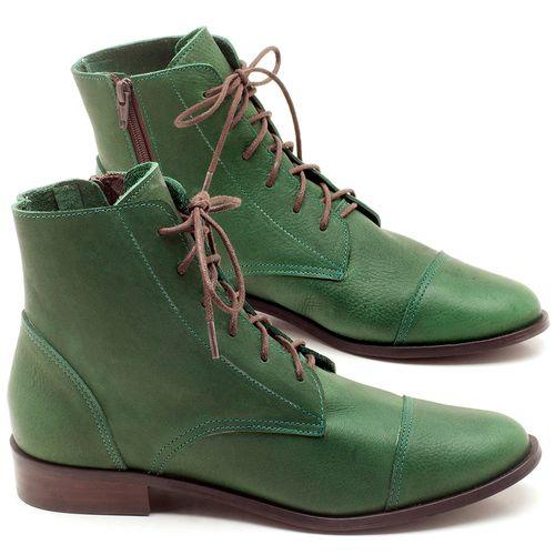 Laranja_Lima_Shoes_Sapatos_Femininos_Bota_Cano_Curto_Salto_de_2_cm_em_Couro_Verde_-_Codigo_-_9440_1