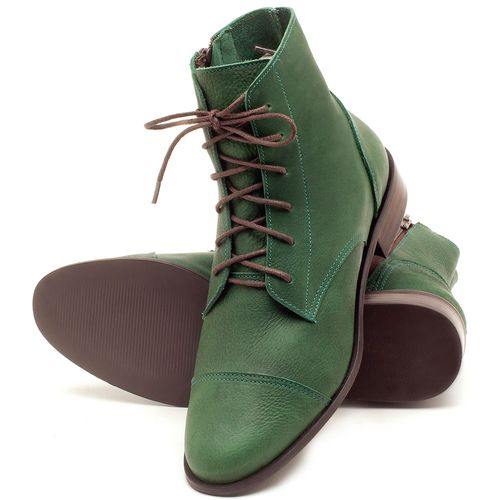 Laranja_Lima_Shoes_Sapatos_Femininos_Bota_Cano_Curto_Salto_de_2_cm_em_Couro_Verde_-_Codigo_-_9440_2