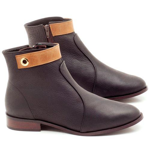 Laranja_Lima_Shoes_Sapatos_Femininos_Bota_Cano_Curto_Salto_de_2_cm_em_Couro_Preto_-_Codigo_-_9441_1