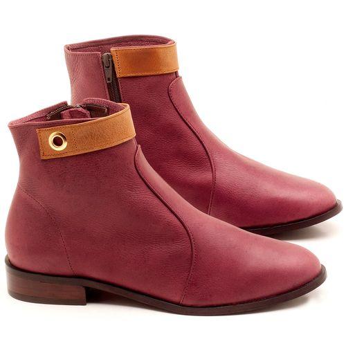 Laranja_Lima_Shoes_Sapatos_Femininos_Bota_Cano_Curto_Salto_de_2_cm_em_Couro_Vinho_-_Codigo_-_9441_1