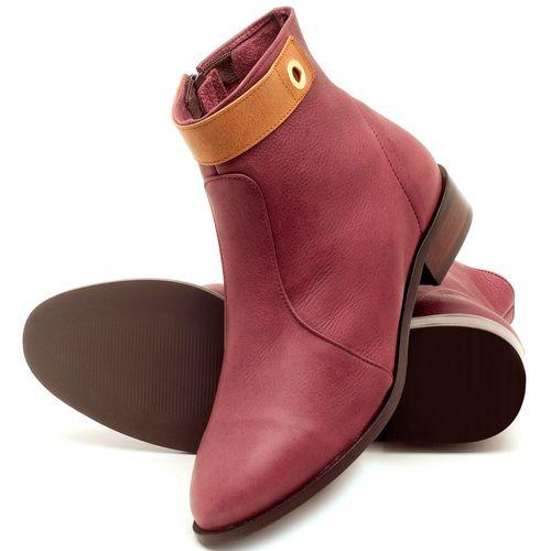 Laranja_Lima_Shoes_Sapatos_Femininos_Bota_Cano_Curto_Salto_de_2_cm_em_Couro_Vinho_-_Codigo_-_9441_2