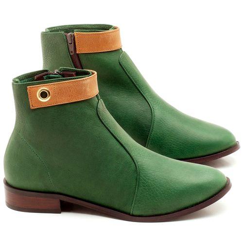 Laranja_Lima_Shoes_Sapatos_Femininos_Bota_Cano_Curto_Salto_de_2_cm_em_Couro_Verde_-_Codigo_-_9441_1