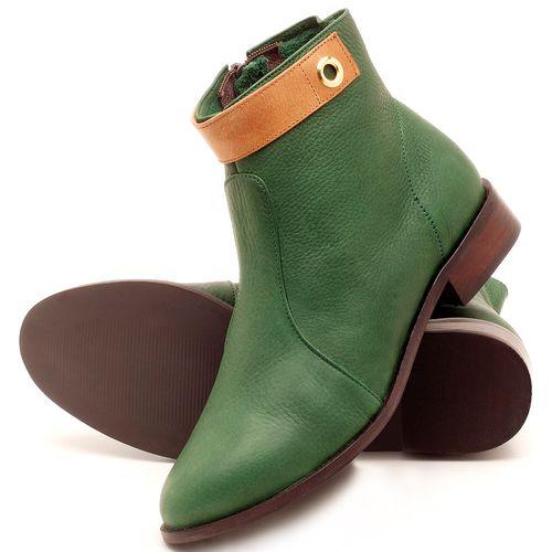 Laranja_Lima_Shoes_Sapatos_Femininos_Bota_Cano_Curto_Salto_de_2_cm_em_Couro_Verde_-_Codigo_-_9441_2