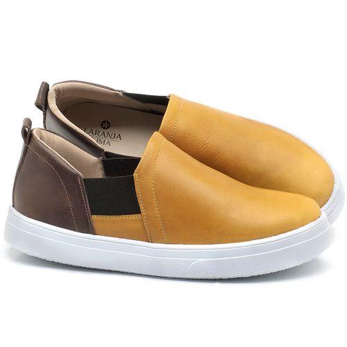 Laranja_Lima_Shoes_Sapatos_Femininos_Tenis_Cano_Baixo_em_Couro_Amarelo_-_Codigo_-_9447_1