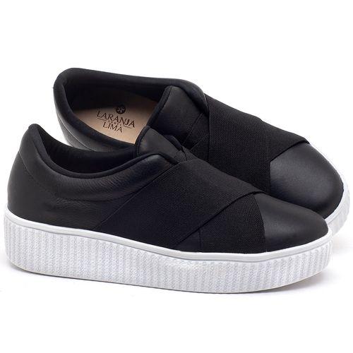 Laranja_Lima_Shoes_Sapatos_Femininos_Tenis_Cano_Baixo_em_Couro_Preto_-_Codigo_-_9448_1