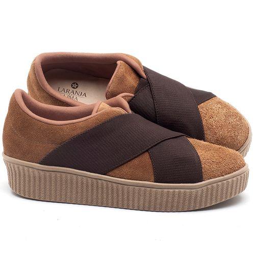 Laranja_Lima_Shoes_Sapatos_Femininos_Tenis_Cano_Baixo_em_Couro_Caramelo_-_Codigo_-_9448_1
