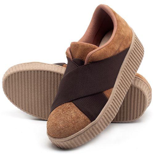 Laranja_Lima_Shoes_Sapatos_Femininos_Tenis_Cano_Baixo_em_Couro_Caramelo_-_Codigo_-_9448_2