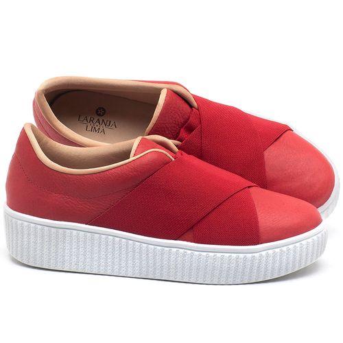 Laranja_Lima_Shoes_Sapatos_Femininos_Tenis_Cano_Baixo_em_Couro_Vermelho_-_Codigo_-_9448_1