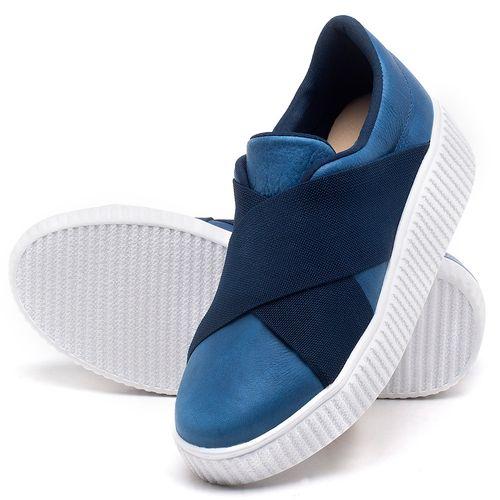 Laranja_Lima_Shoes_Sapatos_Femininos_Tenis_Cano_Baixo_em_Couro_Azul_-_Codigo_-_9448_2