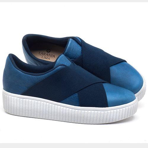 Laranja_Lima_Shoes_Sapatos_Femininos_Tenis_Cano_Baixo_em_Couro_Azul_-_Codigo_-_9448_1
