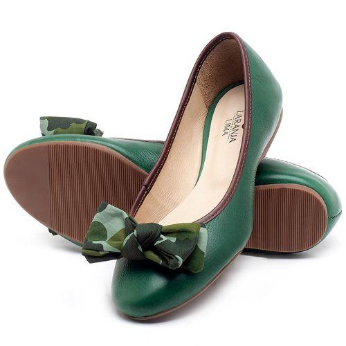 Laranja_Lima_Shoes_Sapatos_Femininos_Sapatilha_Bico_Redondo_em_Couro_Verde_-_Codigo_-_9450_2