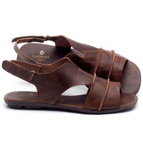 Laranja_Lima_Shoes_Sapatos_Femininos_Sandalia_Rasteira_Flat_em_Couro_Marrom_-_Codigo_-_9457_1