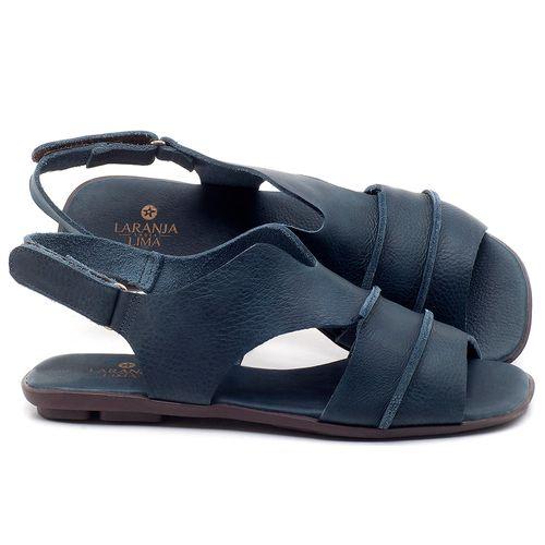 Laranja_Lima_Shoes_Sapatos_Femininos_Sandalia_Rasteira_Flat_em_Couro_Azul_-_Codigo_-_9457_1