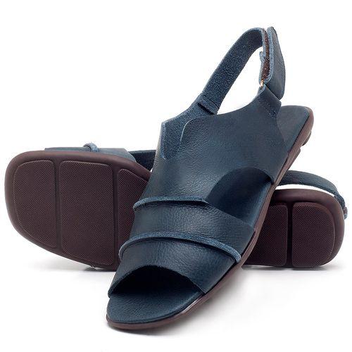 Laranja_Lima_Shoes_Sapatos_Femininos_Sandalia_Rasteira_Flat_em_Couro_Azul_-_Codigo_-_9457_2