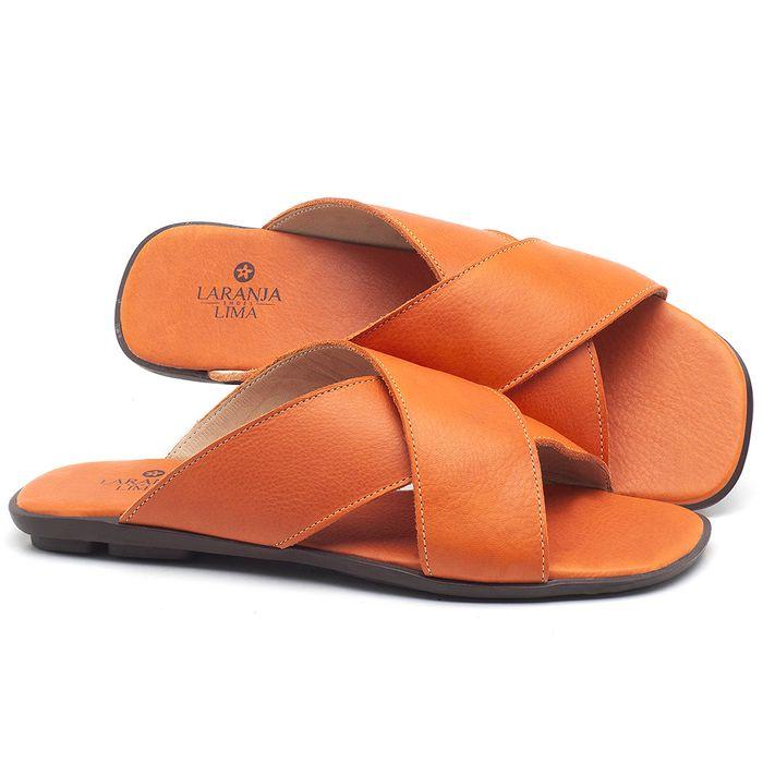 Laranja_Lima_Shoes_Sapatos_Femininos_Sandalia_Rasteira_Flat_em_Couro_Laranja_-_Codigo_-_9458_1