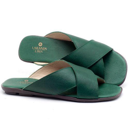 Laranja_Lima_Shoes_Sapatos_Femininos_Sandalia_Rasteira_Flat_em_Couro_Verde_-_Codigo_-_9458_1