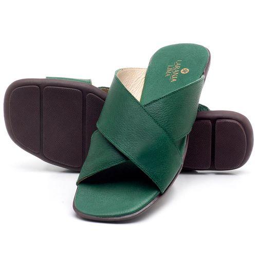 Laranja_Lima_Shoes_Sapatos_Femininos_Sandalia_Rasteira_Flat_em_Couro_Verde_-_Codigo_-_9458_2