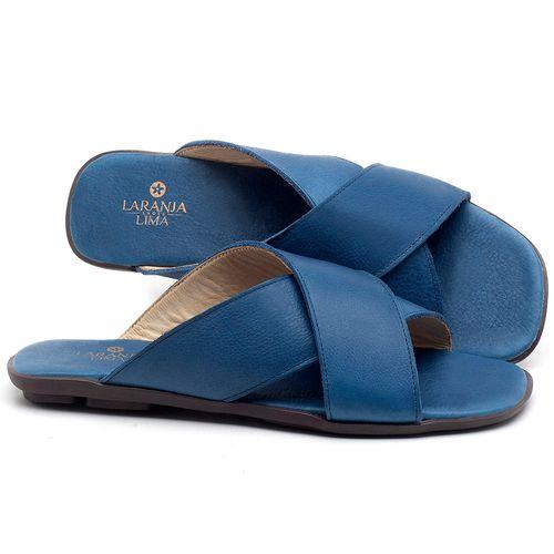 Laranja_Lima_Shoes_Sapatos_Femininos_Sandalia_Rasteira_Flat_em_Couro_Azul_-_Codigo_-_9458_1