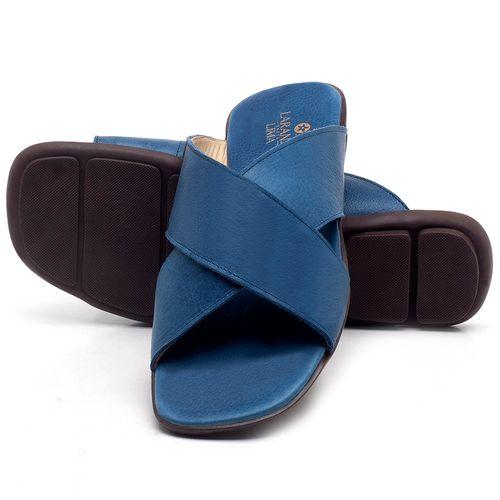 Laranja_Lima_Shoes_Sapatos_Femininos_Sandalia_Rasteira_Flat_em_Couro_Azul_-_Codigo_-_9458_2
