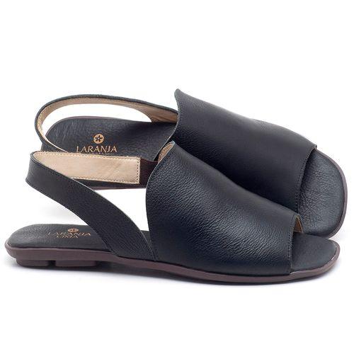 Laranja_Lima_Shoes_Sapatos_Femininos_Sandalia_Rasteira_Flat_em_Couro_Preto_-_Codigo_-_9459_1