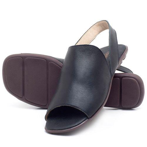 Laranja_Lima_Shoes_Sapatos_Femininos_Sandalia_Rasteira_Flat_em_Couro_Preto_-_Codigo_-_9459_2