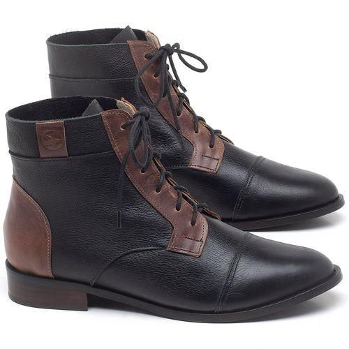 Laranja_Lima_Shoes_Sapatos_Femininos_Bota_Cano_Curto_Salto_de_2_cm_em_Couro_Preto_-_Codigo_-_9460_1