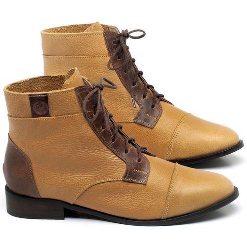 Laranja_Lima_Shoes_Sapatos_Femininos_Bota_Cano_Curto_Salto_de_2_cm_em_Couro_Amarelo_-_Codigo_-_9460_1
