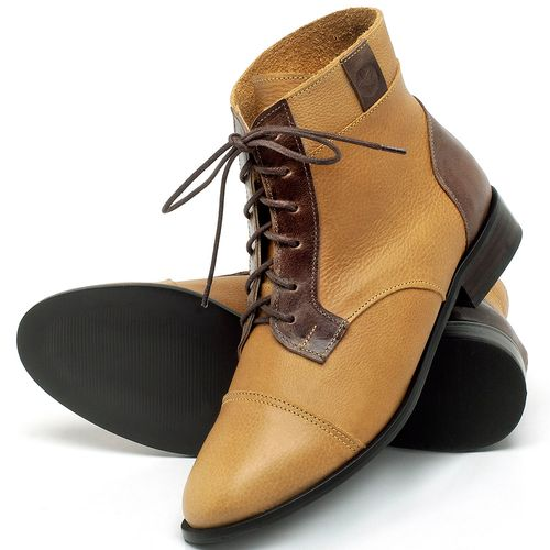 Laranja_Lima_Shoes_Sapatos_Femininos_Bota_Cano_Curto_Salto_de_2_cm_em_Couro_Amarelo_-_Codigo_-_9460_2