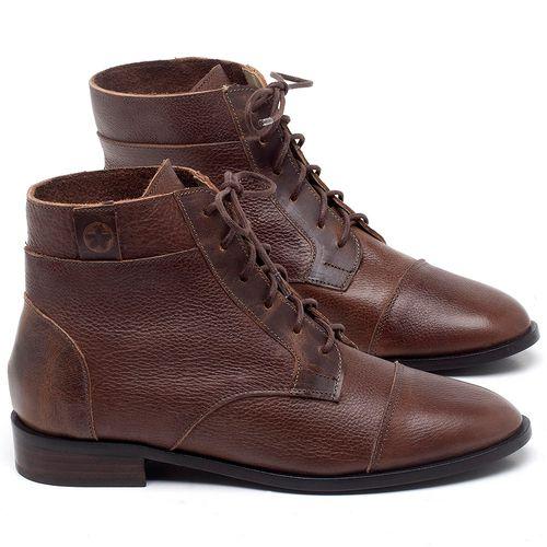 Laranja_Lima_Shoes_Sapatos_Femininos_Bota_Cano_Curto_Salto_de_2_cm_em_Couro_Marrom_-_Codigo_-_9460_1