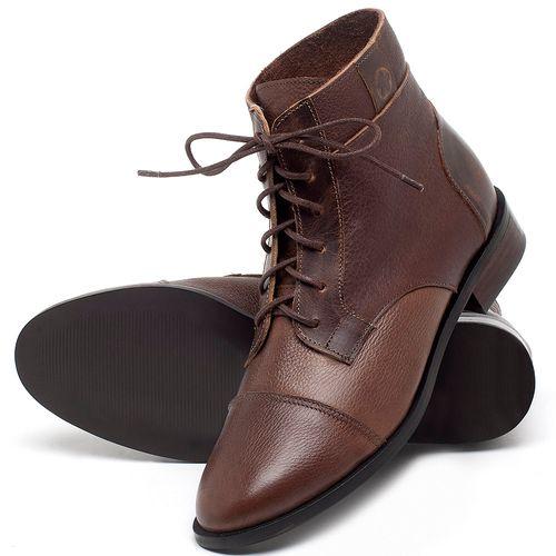 Laranja_Lima_Shoes_Sapatos_Femininos_Bota_Cano_Curto_Salto_de_2_cm_em_Couro_Marrom_-_Codigo_-_9460_2