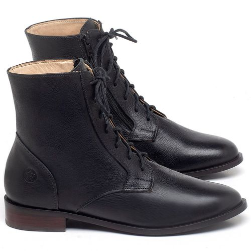 Laranja_Lima_Shoes_Sapatos_Femininos_Bota_Cano_Curto_Salto_de_2_cm_em_Couro_Preto_-_Codigo_-_9461_1