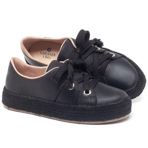 Laranja_Lima_Shoes_Sapatos_Femininos_Tenis_Cano_Baixo_em_Couro_Preto_-_Codigo_-_9462_1