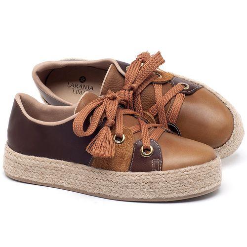 Laranja_Lima_Shoes_Sapatos_Femininos_Tenis_Cano_Baixo_em_Couro_Caramelo_-_Codigo_-_9462_1