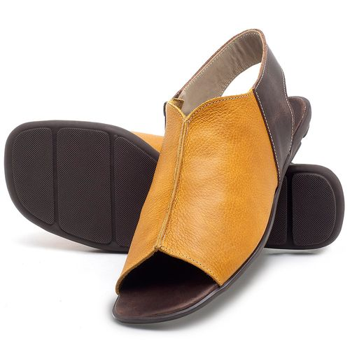 Laranja_Lima_Shoes_Sapatos_Femininos_Sandalia_Rasteira_Flat_em_Couro_Amarelo_-_Codigo_-_9465_2