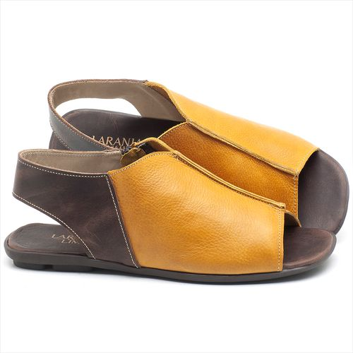 Laranja_Lima_Shoes_Sapatos_Femininos_Sandalia_Rasteira_Flat_em_Couro_Amarelo_-_Codigo_-_9465_1