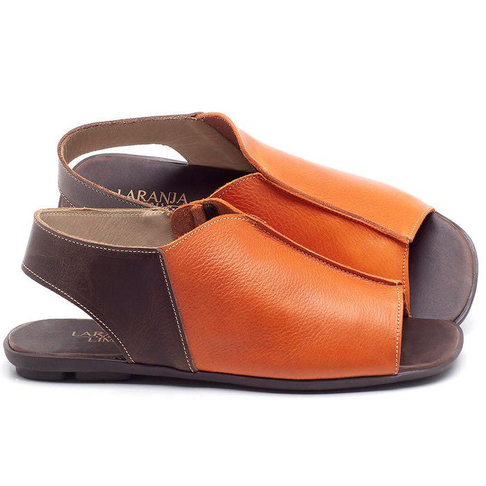 Laranja_Lima_Shoes_Sapatos_Femininos_Sandalia_Rasteira_Flat_em_Couro_Laranja_-_Codigo_-_9465_1