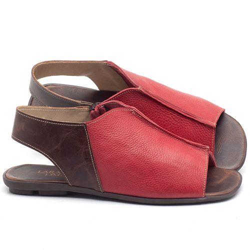 Laranja_Lima_Shoes_Sapatos_Femininos_Sandalia_Rasteira_Flat_em_Couro_Vermelho_-_Codigo_-_9465_1