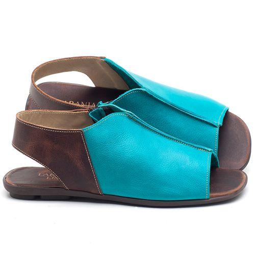 Laranja_Lima_Shoes_Sapatos_Femininos_Sandalia_Rasteira_Flat_em_Couro_Azul_-_Codigo_-_9465_1