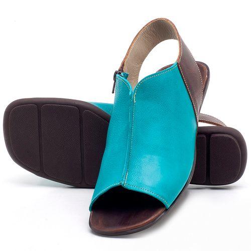 Laranja_Lima_Shoes_Sapatos_Femininos_Sandalia_Rasteira_Flat_em_Couro_Azul_-_Codigo_-_9465_2