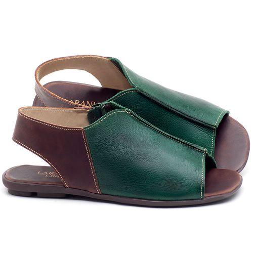 Laranja_Lima_Shoes_Sapatos_Femininos_Sandalia_Rasteira_Flat_em_Couro_Verde_-_Codigo_-_9465_1