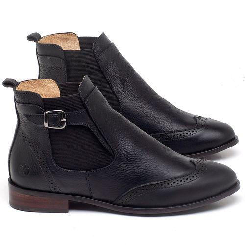 Laranja_Lima_Shoes_Sapatos_Femininos_Bota_Cano_Curto_Salto_de_2_cm_em_Couro_Preto_-_Codigo_-_9466_1