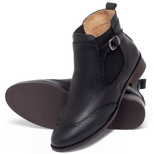 Laranja_Lima_Shoes_Sapatos_Femininos_Bota_Cano_Curto_Salto_de_2_cm_em_Couro_Preto_-_Codigo_-_9466_2