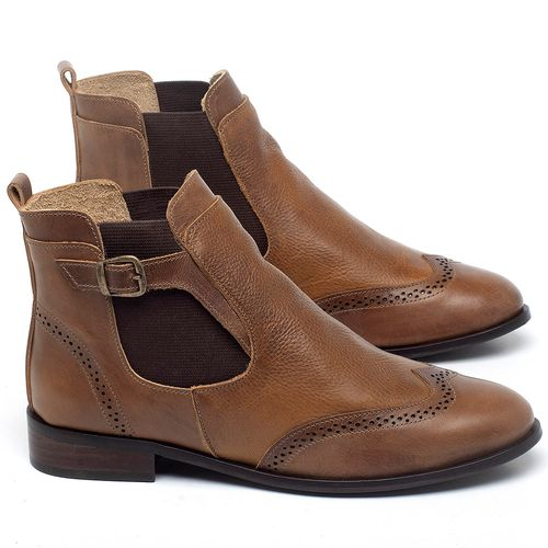 Laranja_Lima_Shoes_Sapatos_Femininos_Bota_Cano_Curto_Salto_de_2_cm_em_Couro_Marrom_-_Codigo_-_9466_1