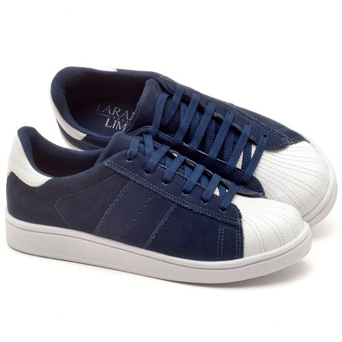 Laranja_Lima_Shoes_Sapatos_Femininos_Tenis_Cano_Baixo_em_Couro_Azul_-_Codigo_-_99084_1