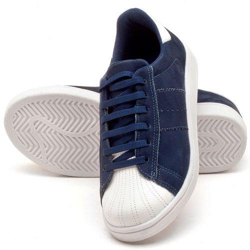 Laranja_Lima_Shoes_Sapatos_Femininos_Tenis_Cano_Baixo_em_Couro_Azul_-_Codigo_-_99084_2