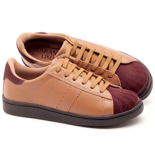 Laranja_Lima_Shoes_Sapatos_Femininos_Tenis_Cano_Baixo_em_Couro_Bege_-_Codigo_-_99084_1