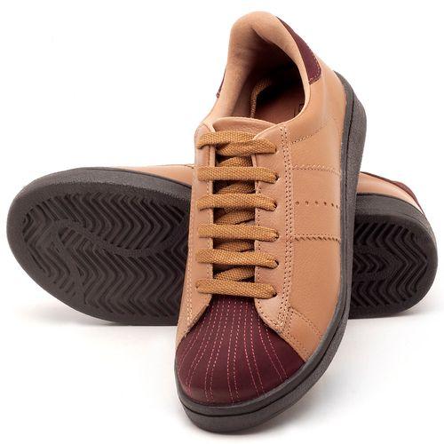 Laranja_Lima_Shoes_Sapatos_Femininos_Tenis_Cano_Baixo_em_Couro_Bege_-_Codigo_-_99084_2