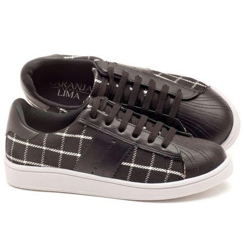 Laranja_Lima_Shoes_Sapatos_Femininos_Tenis_Cano_Baixo_em_Couro_Preto_-_Codigo_-_99085_1